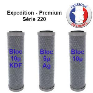 Cartouches charbon bloc 240 premium & expedition