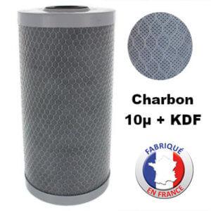 Cartouche BB recyclable charbon bloc 5µ + KDF